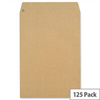 New Guardian 381x254mm 130gsm Manilla Peel and Seal Pocket Envelopes Pack of 125