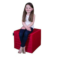 Elephant Cube Chair 450x450x400mm Vibrant Red