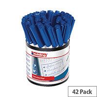 Edding Handwriter Pen Blue Pack of 42 1408003