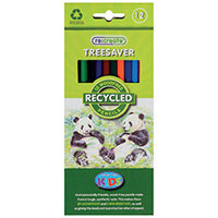 ReCreate Treesaver Recycled Colouring Pencils Pack of 12 TREE12COL