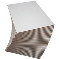 Show-me Rigid Drywipe Board A4 Plain Pack of 30 PFB30