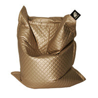 Elephant Jumbo Bean Bag 1750x1350mm Gold Quilted