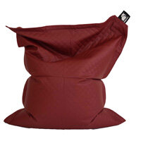 Elephant Jumbo Bean Bag 1750x1350mm Vibrant Red Quilted