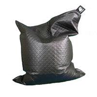 Elephant  Junior Kids Size Bean Bag 1400x1100mm Urban Black Quilted