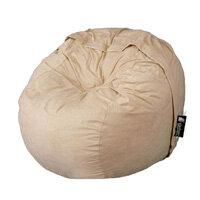 Elephant Kumo Round Bean Bag H800xD1000mm Real Mocha