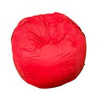 Elephant Kumo Round Bean Bag H800xD1000mm Vibrant Red