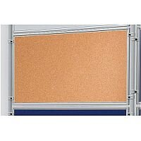 Double Sided Cork Notice Board 1200 x 600mm Franken Eco Partition System Module
