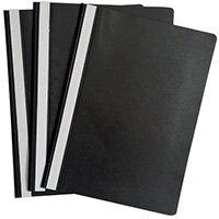 Graffico Project Folder A4 Black Pack of 100 EN06041
