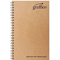 Graffico Recycled Wirebound Notebook 160Pg A5 Pack of 10 EN07341