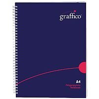 Graffico Twin Wire Hard Cover A4 Notebook 160 Pages