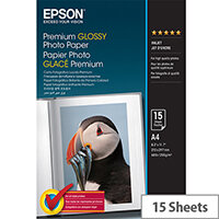 Epson A4 Glossy Premium Photo Paper (Pack of 15)