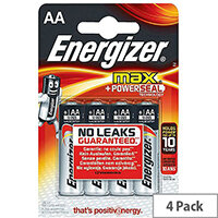 Energizer MAX E91 AA Alkaline Batteries (Pack of 4)