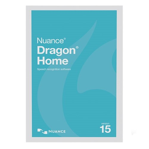 Nuance Dragon Speech Recognition Software v. 15.0 Home - ESD License (Download) for 1 User - Windows PC Compatible, English - ESN-DC09A-G00-15.0