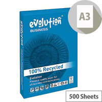 Evolution Business A3 80gsm White Recycled Paper Ream of 500 Sheets EVBU4280