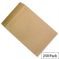 5 Star C4 Mediumweight Manilla 90gsm Envelopes Pocket Press Seal Pack 250 Ref F90022