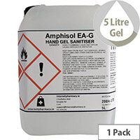 Amphisol - Fully Approved 70% Ethanol Based Hand Sanitiser Gel PCS 100421 5L