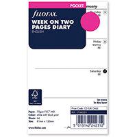 Filofax Refill Week to View Pocket 2022 22-68221