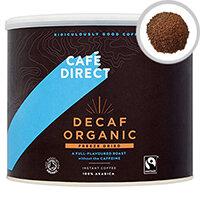 Cafedirect Medium Roast Decaffeinated Instant Freeze Dried Coffee 500g Tin Pack of 1 TW141002