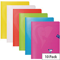 Clairefontaine Mimseys Notebook A4 Assorted Pack of 10 303165C