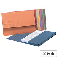 Guildhall Document Wallet Blue Angel Assorted Pack of 50 GDW1-AST