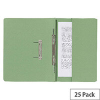 Guildhall Pocket Spiral File Green 347-Grnz Pk25