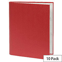 Guildhall A4 Ring Binder 30mm 2 Ring Red Pack of 10 222/0002Z