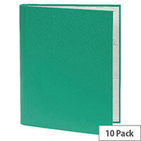 Guildhall A4 Ring Binder 30mm 2 Ring Green Pack of 10 222/0003Z