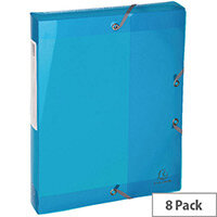 Iderama 40mm Filing Boxes Assorted Pack of 8 59770E