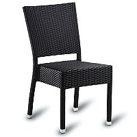 Sorrento Black Weave Outdoor Stacking Side Chair