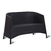 Sorrento Black Weave Outdoor Stacking Twin Tub Chair