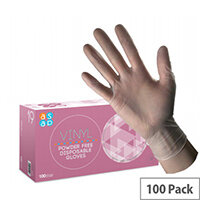 Vinyl SMALL Disposable Gloves Powder-Free Box of 100 Gloves