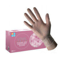Vinyl SMALL Disposable Gloves Powder-Free Case of 10 x 100 (1000 Gloves)