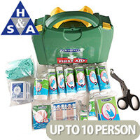 Classroom First Aid School Green Box HSA Kit Wall Mounted 1-10 Person– Compliant With Health & Safety Regulation, Wall-Mountable, Durable, Compartmentalised & Hinged Case (1002541S)
