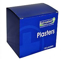 Astroplast Hypoallergenic Blue Washproof Assorted Plasters for Catering Box of 150 1213001