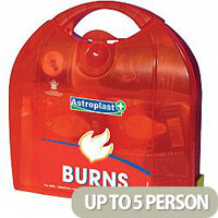Astroplast Piccolo Burns First Aid Kit – Caters Up To 5 People, Compliant With Health & Safety Regulation, Durable, Compartmentalised & Hinged Case (1009005)