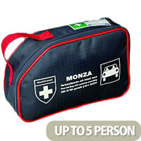 Monza First Aid Kit Car Bag DIN – High Quality, HSA Compliant for PSV Irish Taxi First Aid Kit, Suitable For Motor Environments, Durable, Compact, Zipped, Well-Stocked & Medium Size For 1-5 People (F30801)