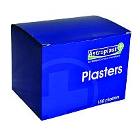 Astroplast Hypoallergenic Plasters Blue Detectable 7.2cm x 2.5cm Box of 150 1213014