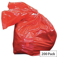 Medium Duty Laundry Soluble Strip Bags Red 50L (Pack of 200) RSB/3