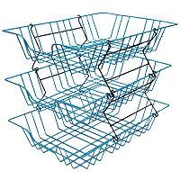Hago Folio Plastic Coated Wire Letter Tray A4 Blue 580070