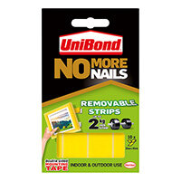 Unibond No More Nails Removable Strip Ultra Strong 2kg 10 Strips
