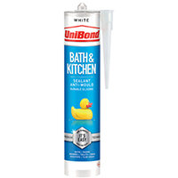 UniBond Bathroom and Kitchen Sealant Cartridge White 280ml 2652145