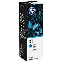 HP 31 70ml Cyan Ink Bottle 1VU26AE