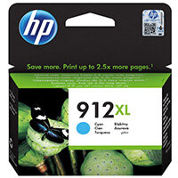 HP 912XL High Yield Ink Cartridge Cyan 9.9ml 3YL81AE