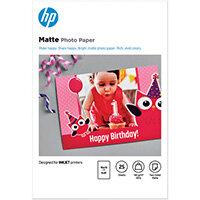 HP Matte FSC Photo Paper 4x6 Inch Pack of 25 7HF70A