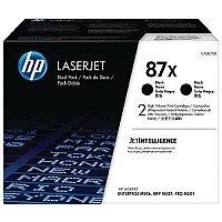 HP 87X High Yield Black LaserJet Toner Cartridge Pack of 2 CF287XD