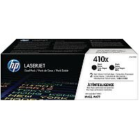 HP 410X High Yield Black LaserJet Toner Cartridge Pack of 2 CF410XD