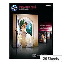 HP 13x18cm Premium Plus Photo Paper 300gsm Glossy (Pack of 20)