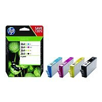 HP 364XL Cyan Magenta Yellow Black Ink Cartridges High Yield Combo 4-Pack N9J73AE