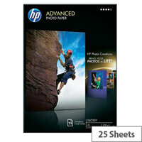 HP A4 Advanced Glossy Photo Paper 250gsm (Pack of 25)