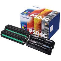 Samsung CLT-P504C CYMK Standard Yield Toner Cartridge Pack of 4 SU400A